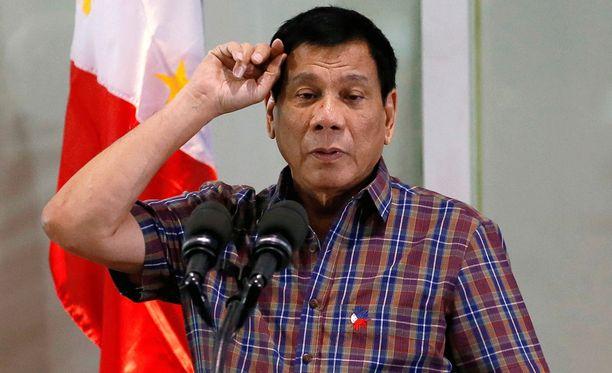 Presidentti Rodrigo Duterte ei säästellyt sanojaan.