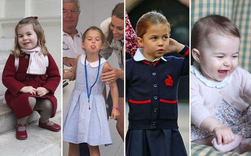 Prinsessa Charlotte täyttää tänään viisi vuotta - tytöstä on varttunut hovin etiketin osaava pieni leidi, tuoreet kuvat