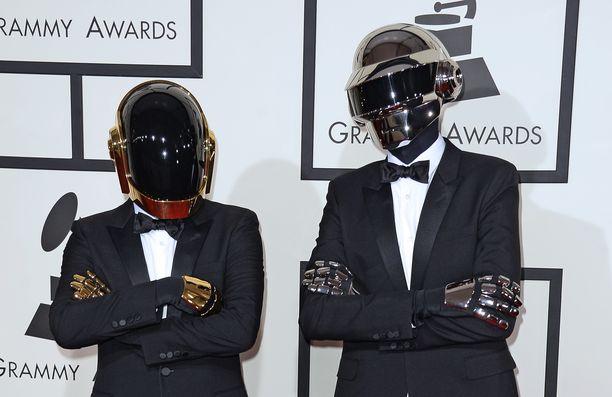 Daft Punk poseerasi Grammy-gaalassa vuonna 2014.