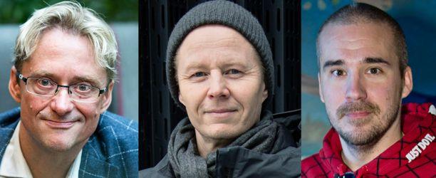 Mikael Jungnerin, vas., ja Aleksi Valavuoren, oik. tviitit ovat olleet Mikki Kausteen mielestä liian hallituskriittisiä.