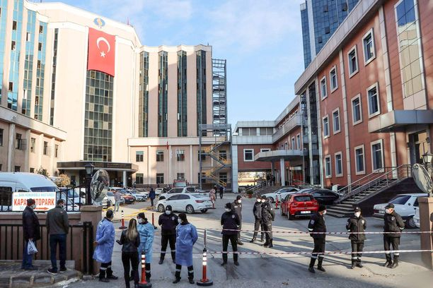 Räjähdys sattui lauantaina Sanko University Hospitalissa Turkin Gaziantepissa.