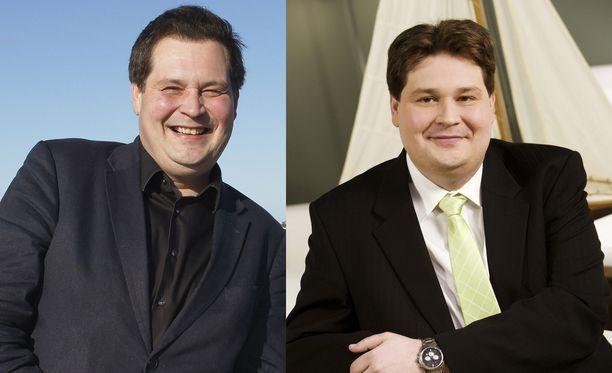 Kiinteistönvälittäjä  painoi parhaimmillaan 130 kiloa (kuvassa oikealla). Nyt mies painaa alle satakiloa.