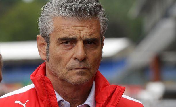 Ferrarin tallipäällikkö Maurizio Arrivabene ei anna perusteettomia lupauksia.