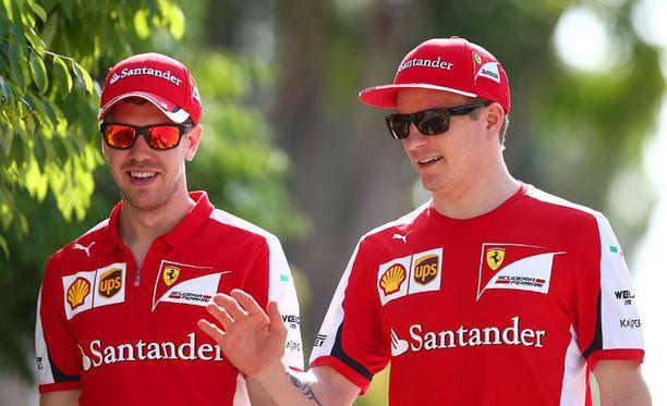 Sebastian Vettel ja Kimi Räikkönen saavat lisää vauhtia.