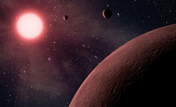"""Kepler-90 on hieman omaa Aurinkoamme suurempi. Sitä kiertää kahdeksan planeettaa, joista osa """"elämän vyöhykkeellä""""."""
