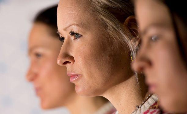 Riitta-Liisa Roponen viihtyy maajoukkueen tämän vuoden menossa.