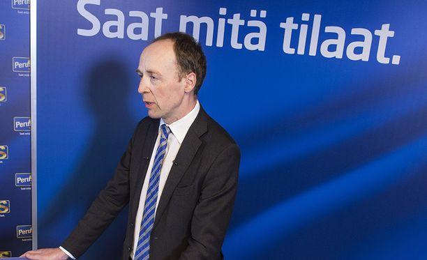 Perussuomalaisten nykyinen puheenjohtaja Jussi Halla-aho.