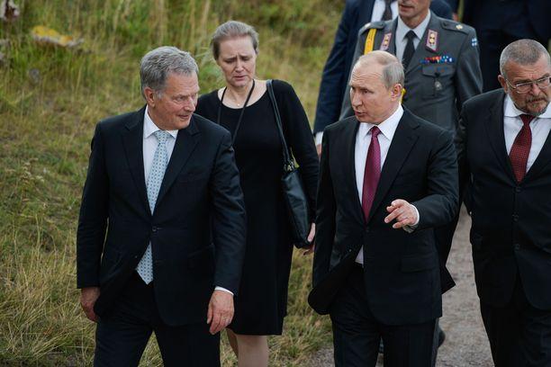 Putinin vierailua isännöi tasavallan presidentti Sauli Niinistö.