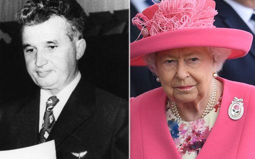 Onko tässä kuningatar Elisabetin uran epäammattimaisin hetki? Piiloutui epätoivottua vierastaan puskaan