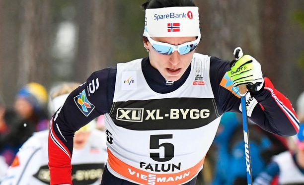 Marit Björgen on Lahden MM-kisojen kovimpia mitalisuosikkeja.