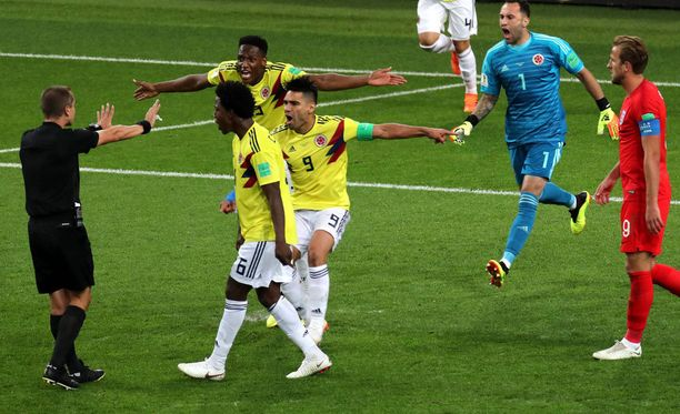 Tiistaisen Englanti-pelin tuomaritoiminta ei miellyttänyt kolumbialaisia.