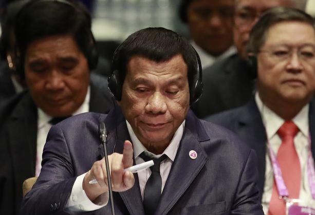 Rodrigo Duterte jätti keskiviikkona väliin ainakin neljä tilaisuutta Asean-kokouksessa Singaporessa.