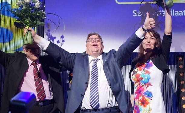 Soini luotsasi perussuomalaiset vaalien toiseksi suurimmaksi puolueeksi.