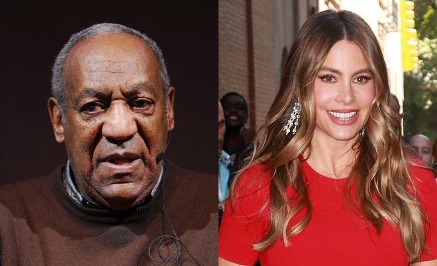 Bill Cosby haastatteli Sofia Vergaraa vuonna 2003.