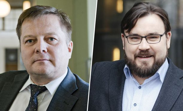 Vasemmistoliiton kansanedustajat Markus Mustajärvi ja Johannes Yrttiaho.