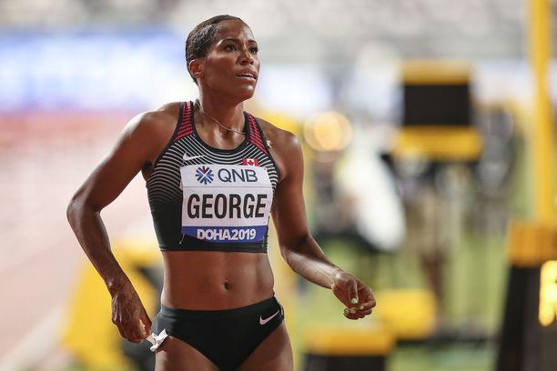 Phylicia George kilpaili vuonna 2109 MM-kisoissa Dohassa.