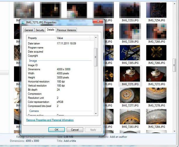 Storsjö pyrkii osoittamaan kuvakaappauksella tietokoneeltaan, että kuvat on aidosti otettu väitettynä ajankohtana.