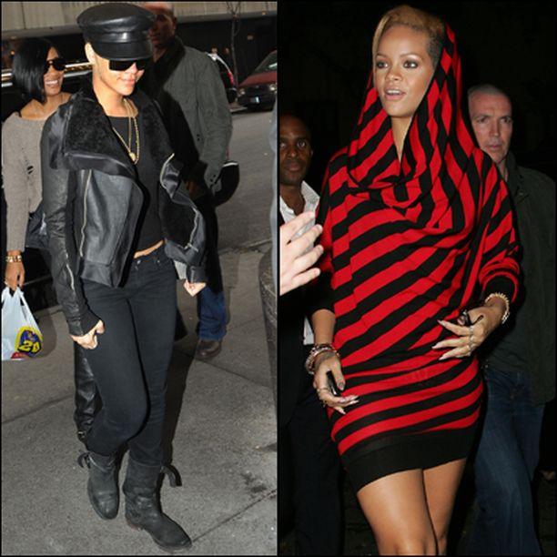 """Tavallisempaa kaduntallaaja-lookkia Rihanna esitteli """"It's On with Alexa Chung"""" -viihdeohjelmassa."""