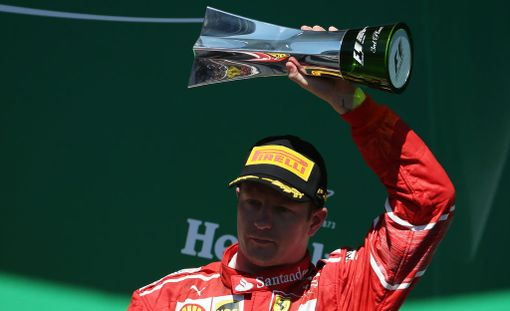 Kimi Räikkönen on jättänyt Ferrarin podium-tilastossa taakseen esimerkiksi Niki Laudan.