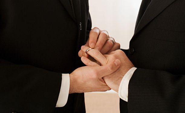 Suomessa samaa sukupuolta olevat eivät voi toistaiseksi avioitua.