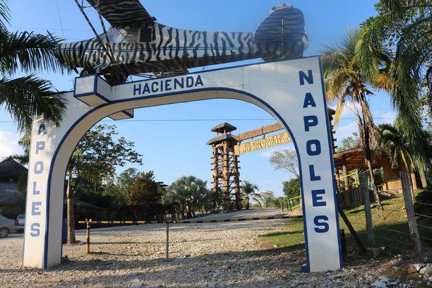 Pablo Escobarin entinen kartanoi Haciensa Napoles Kolumbiassa on nykyisin teemapuisto.
