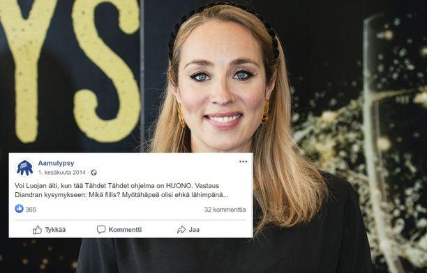 Anni Hautala tuomaroi tänä syksynä Tähdet tähdet -ohjelmaa.