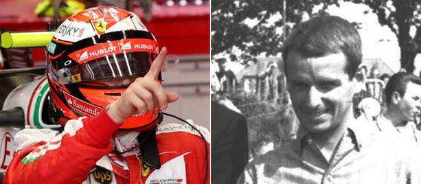 Kimi Räikkönen lipsautti mutkassa, joka kantaa Ernst Degnerin nimeä.