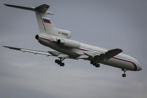 Kuvassa Tupolev Tu-154 -matkustajakone. Arkistokuva.