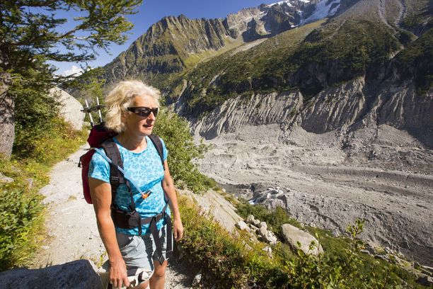 Mont Blancin rinteiltä löytyy polkuja monentasoisille juoksijoille ja vaeltajille.