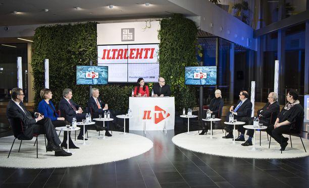 Iltalehden presidentinvaalitentti järjestettiin maanantaina Alma-talossa Helsingissä.