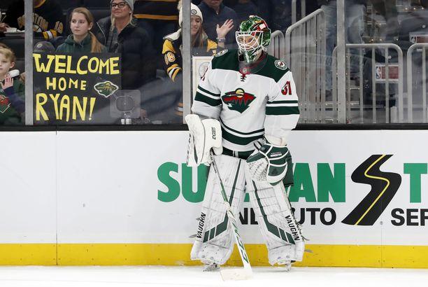 Kaapo Kähkönen, 23, pääsi ensimmäistä kertaa tositoimiin NHL:ssä. Alkukausi on sujunut AHL:n Iowa Wildissa.