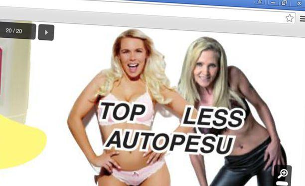 Varaosaliike mainostaa näin syntymäpiväjuhlien autopesua.