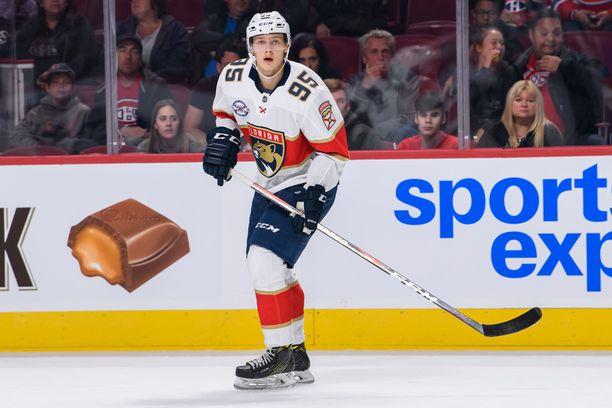 Henrik Borgström pelasi viime kaudella neljä NHL-ottelua, joissa syntyi yksi maali.