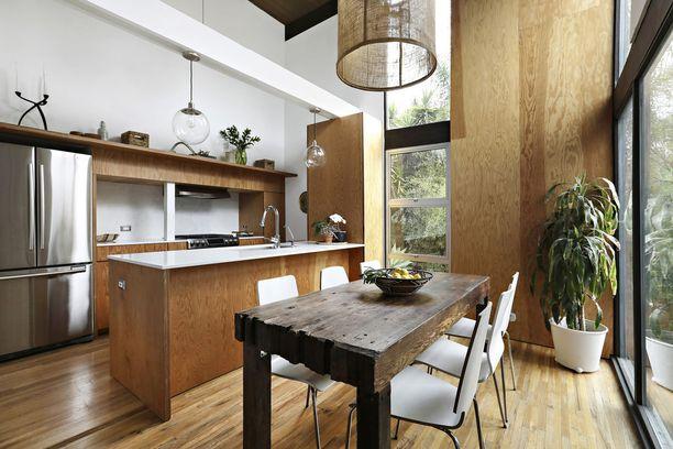 Keittiö on asunnon hurmaavin huone.
