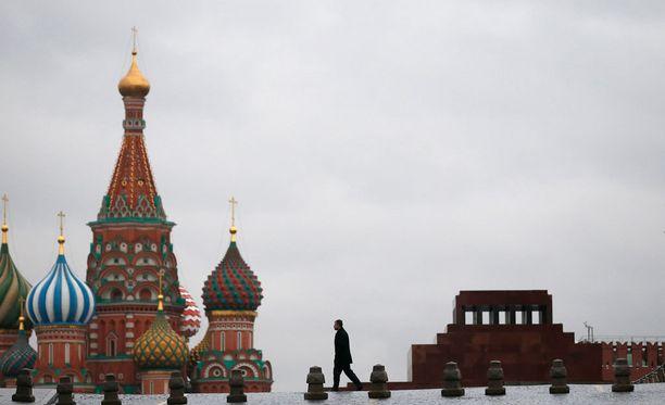 Vladimir Leninin ruumis on mausoleumissa Moskovan Punaisella torilla.