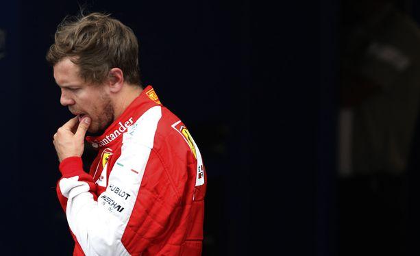 Sebastian Vettel oli mietteliäs mies Monacon GP:n lauantain aika-ajojen jälkeen.