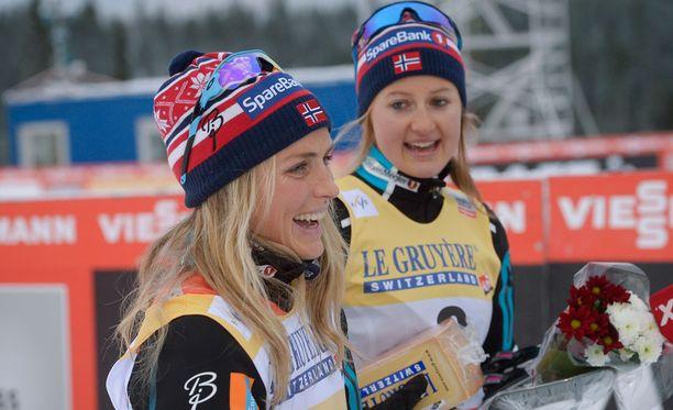 Therese Johaug ja Ingvild Flugstad Östberg ovat olleet maajoukkuekavereita vuosien ajan.