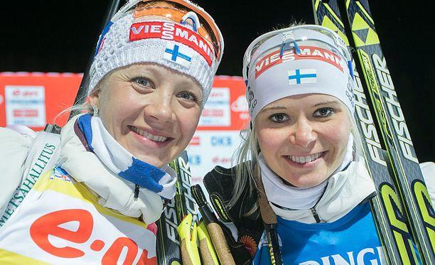 Kaisa Mäkäräinen ja Mari Laukkanen olivat odotetusti naisten nopeimmat ampumahiihdon SM-kisoissa.