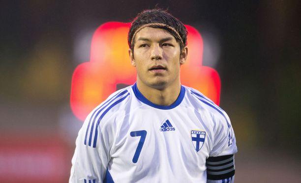 Suomen nuorten kapteeni Moshtagh Yaghoubi nautti Pallokentän juhlapelin tunnelmasta.