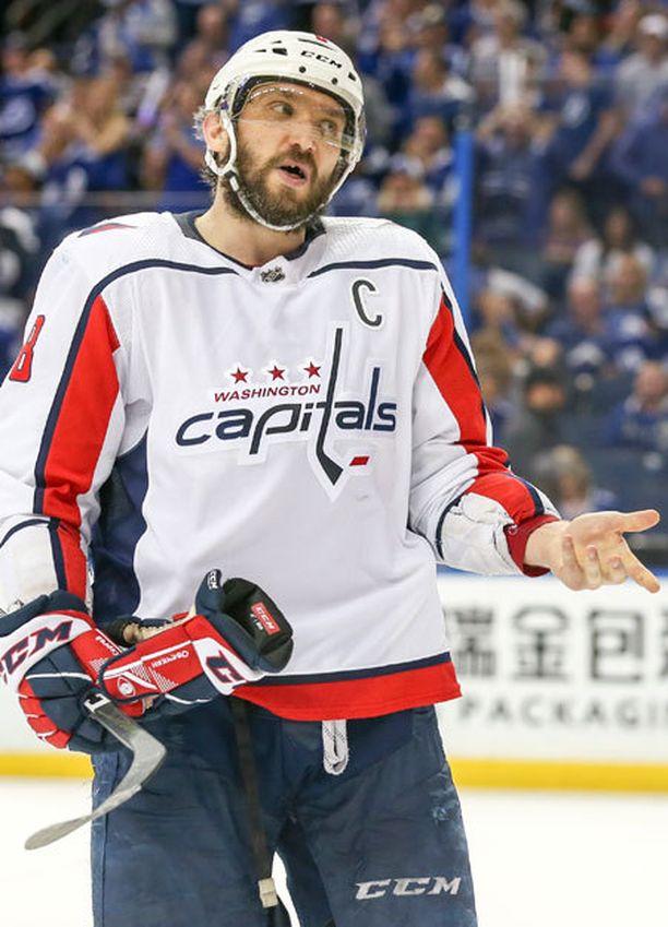 Alex Ovetshkin pelaa ensimmäistä kertaa Stanley Cupin loppuotteluissa.
