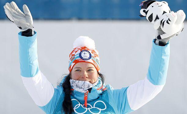 Krista Pärmäkoski on ollut Suomen ykkösurheilija talviolympiakisoissa.