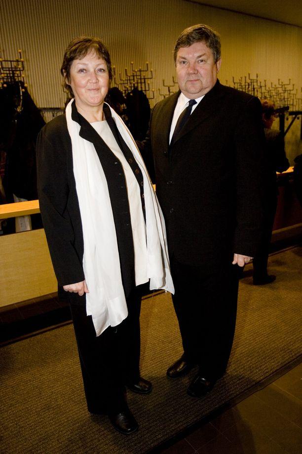 Juha Muje yhdessä Pinke-vaimon kanssa vuonna 2007.