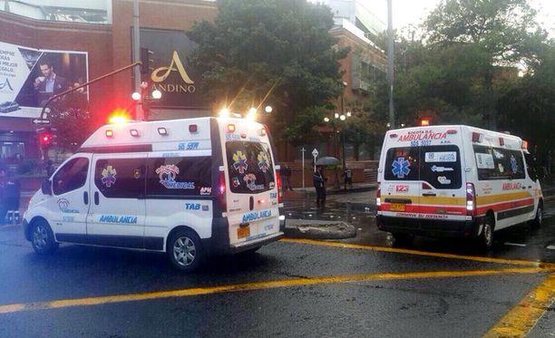 Räjähdys tappoi lauantaina kolme ihmistä ostoskeskuksessa Kolumbian Bogotassa.