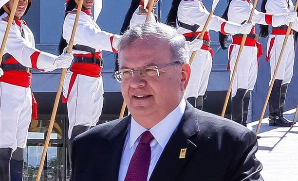 Kreikan Brasilian-suurlähettiläs Kyriakos Amiridis toukokuussa.
