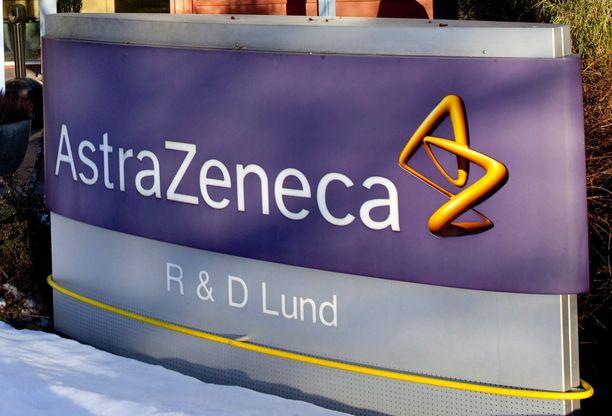 Astra Zeneca on yksi koronarokotteen kehittäneistä yrityksistä. Kuva yrityksen tilojen edestä Lundissa Ruotsissa.