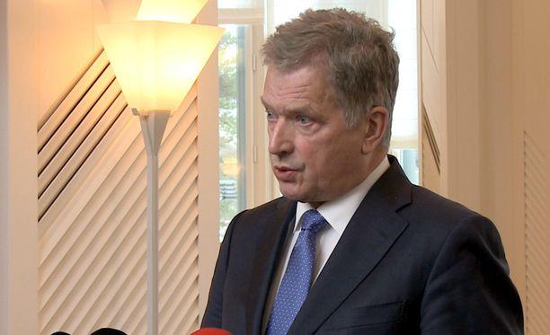Tasavallan presidentti Sauli Niinistö piti tänään tiedotustilaisuuden ulko- ja turvallisuuspolitiikan tilanteesta.