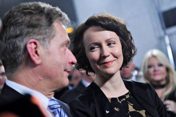 Jenni Haukiosta tuli Suomen ensimmäinen nainen vuonna 2012, kun hänen puolisonsa Sauli Niinistö valittiin tasavallan presidentiksi.