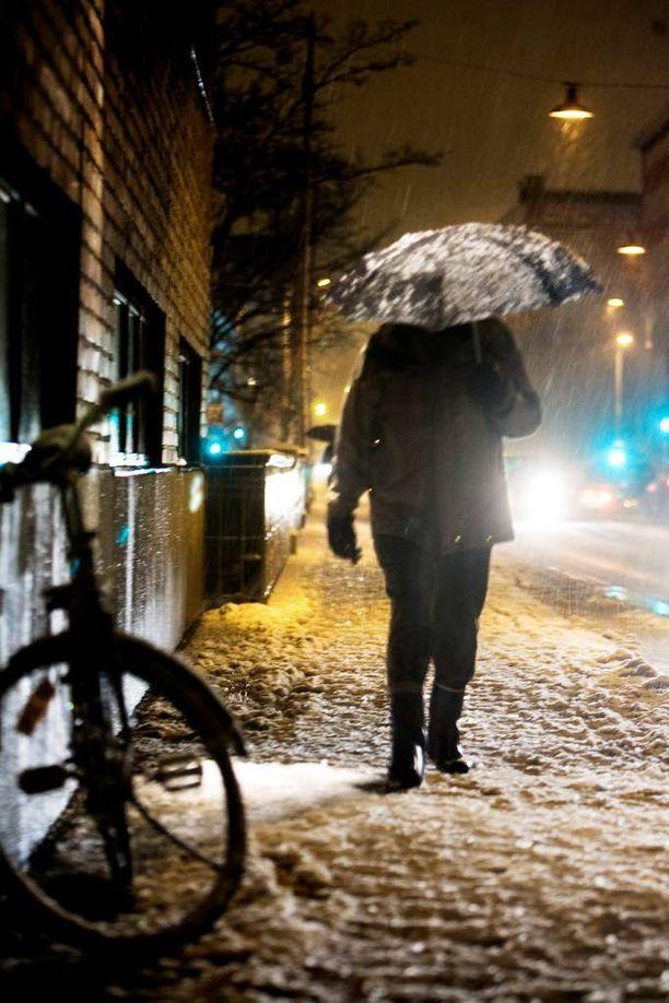 Lunta, räntää tai vettä. Kaikki on mahdollista lähiaikoina.