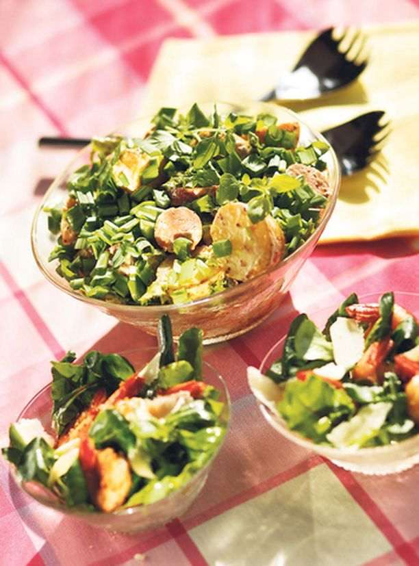 Kevyttä vai reilun ruokaisaa — salaattien suhteen tyyli on vapaa.