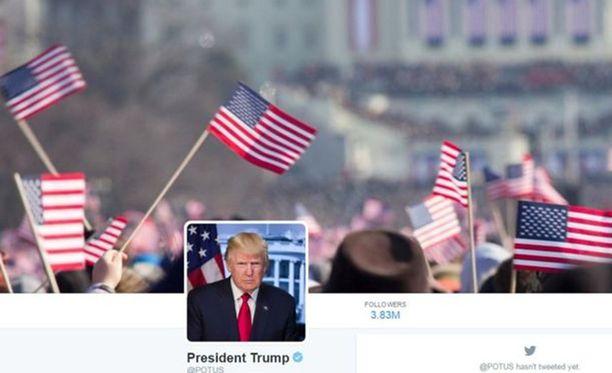 Kun Trump sai @POTUS-tilin itselleen, kuvaksi laitettiin otos Obaman virkaanastujaisista.
